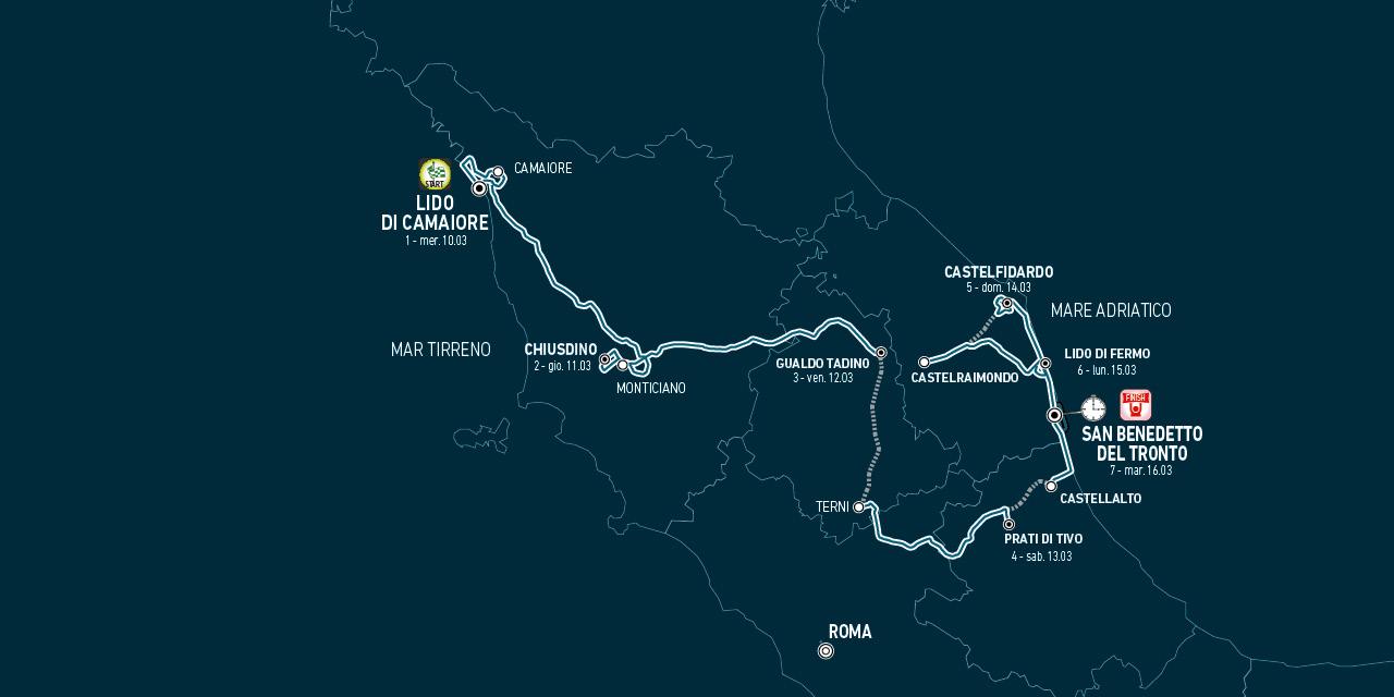 Tirreno Adriatico 2021 - Informazioni, orari e provvedimenti di viabilità